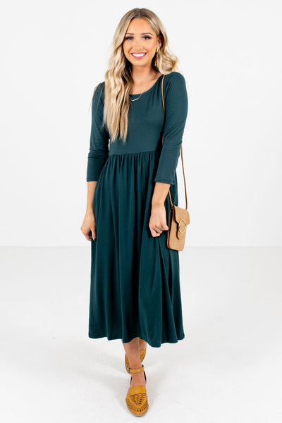 Women's Teal Green Fall and Winter Boutique Clothing