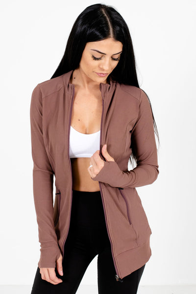 Women's Mauve Hugging Fit Boutique Active Jacket