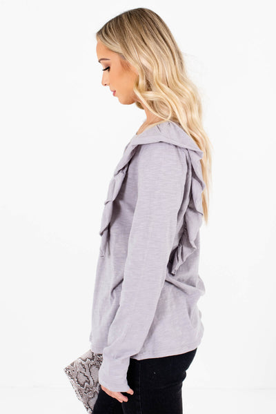 Light Slate Gray High-Quality Lightweight Material Boutique Tops