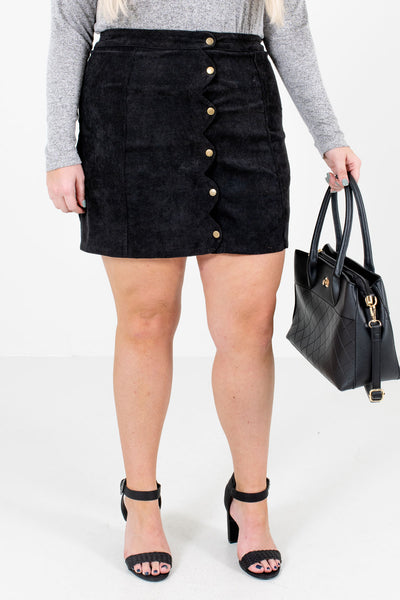 Black Cute and Comfortable Boutique Mini Skirts for Women