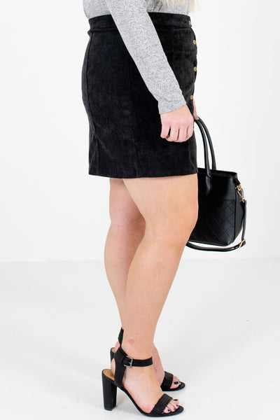 Black Fully Lined Boutique Mini Skirts for Women
