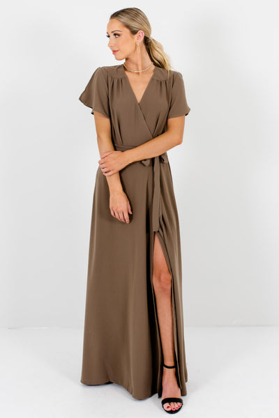Brown Cute and Comfortable Boutique Maxi Dresses for Women