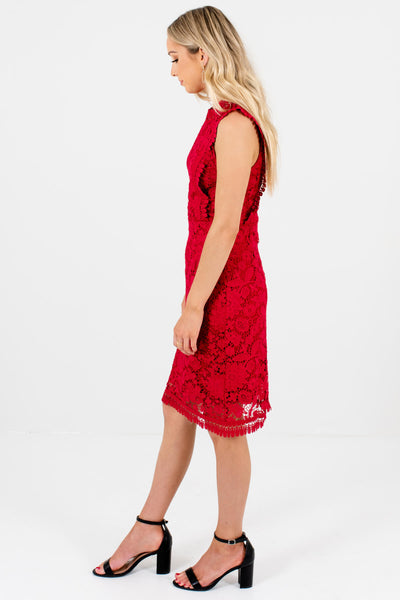 Red Special Occasion Boutique Knee-Length Dresses for Women