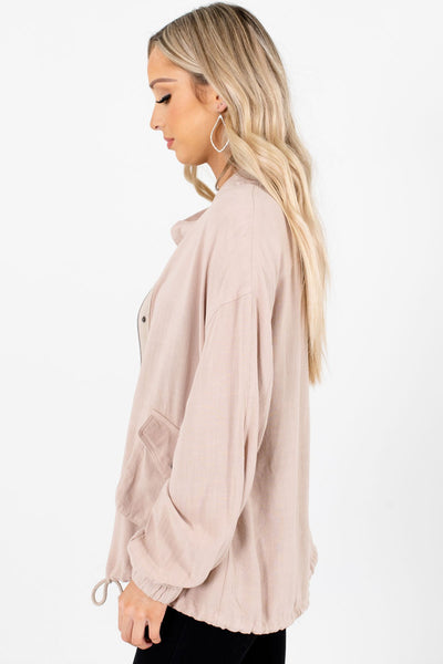 Beige Cute and Comfortable Boutique Jackets for Women