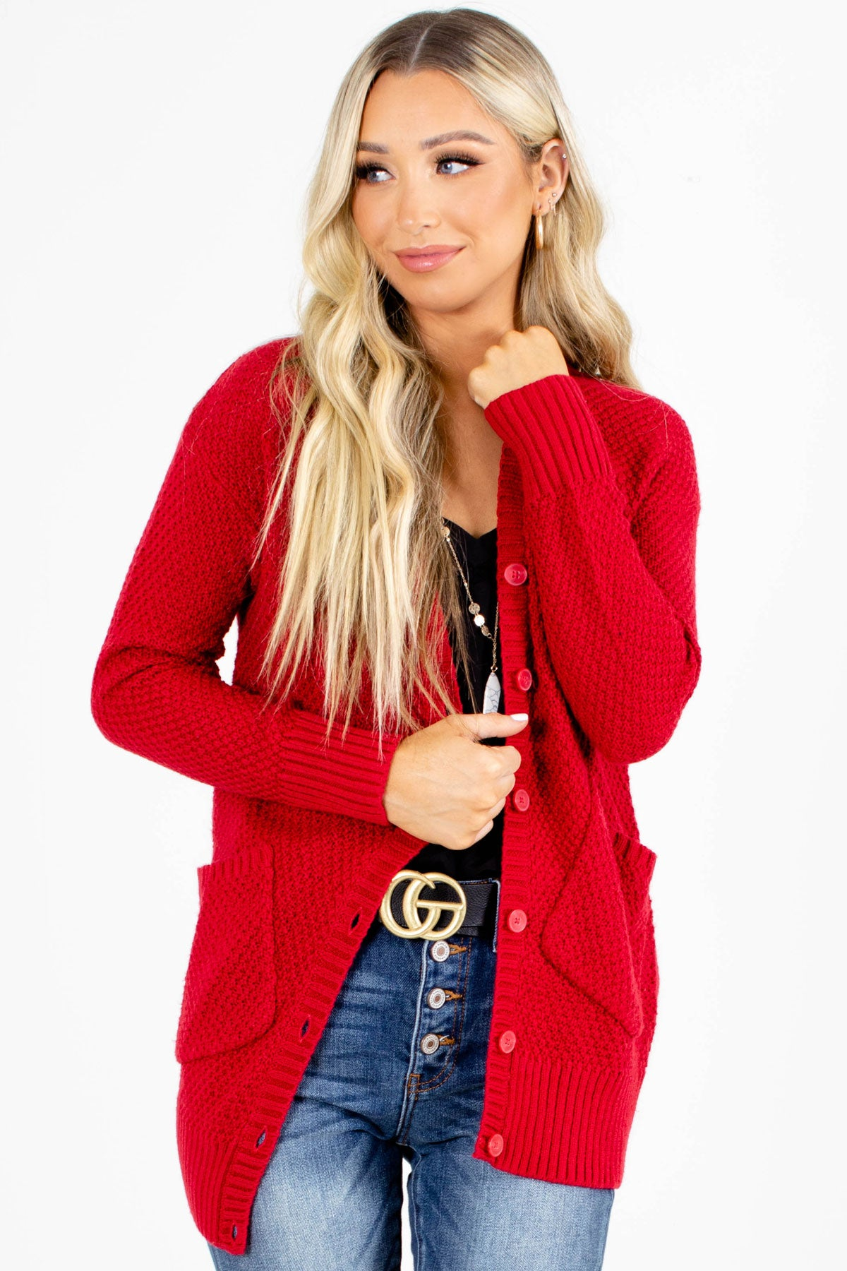 Fall Boutique Cardigan with Long Sleeves