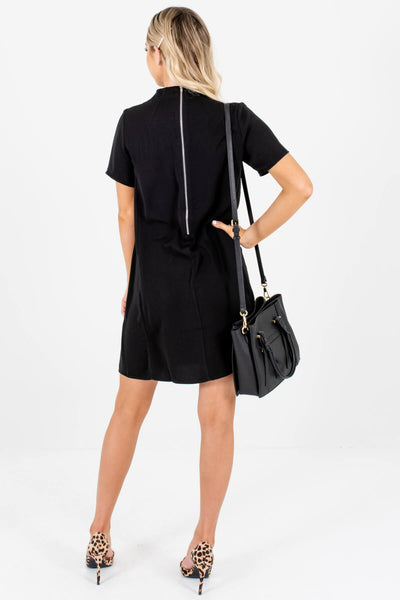 Black Zipper Mini Dresses Affordable Online Boutique Business Casual