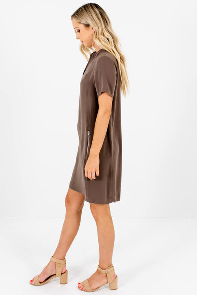 Olive Brown Mini Dresses Affordable Online Boutique