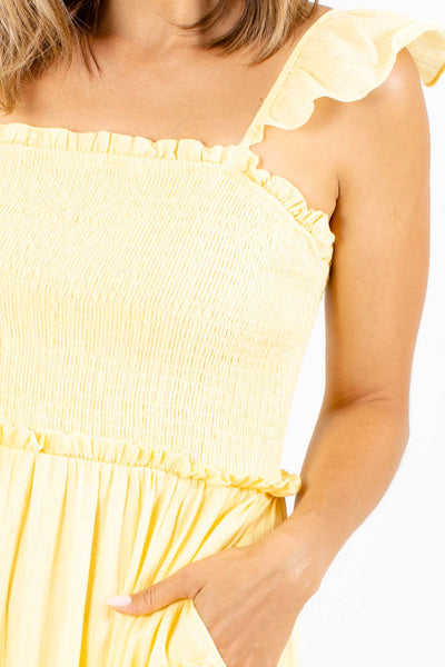 Yellow Affordable Online Boutique Clothing for Women