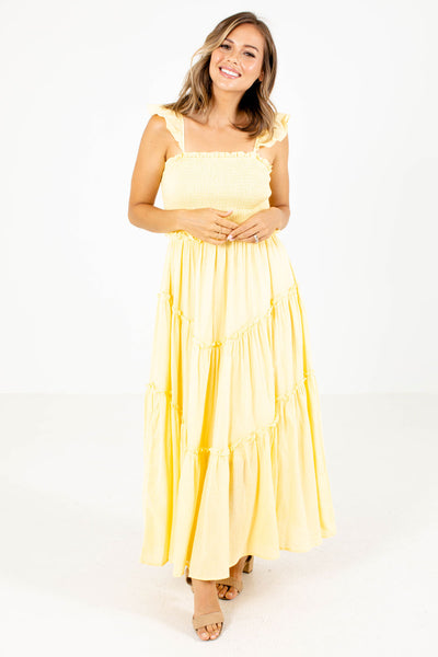Yellow Cute and Comfortable Boutique Maxi Dresses for Women