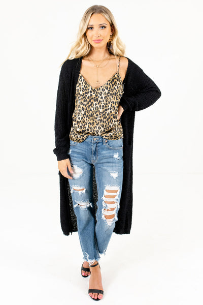Women's Black Warm and Cozy Boutique Cardigan