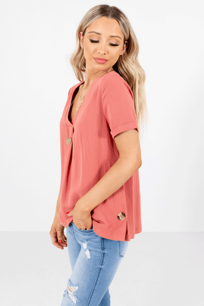 Women's Pink Lightweight High-Quality Boutique Tops