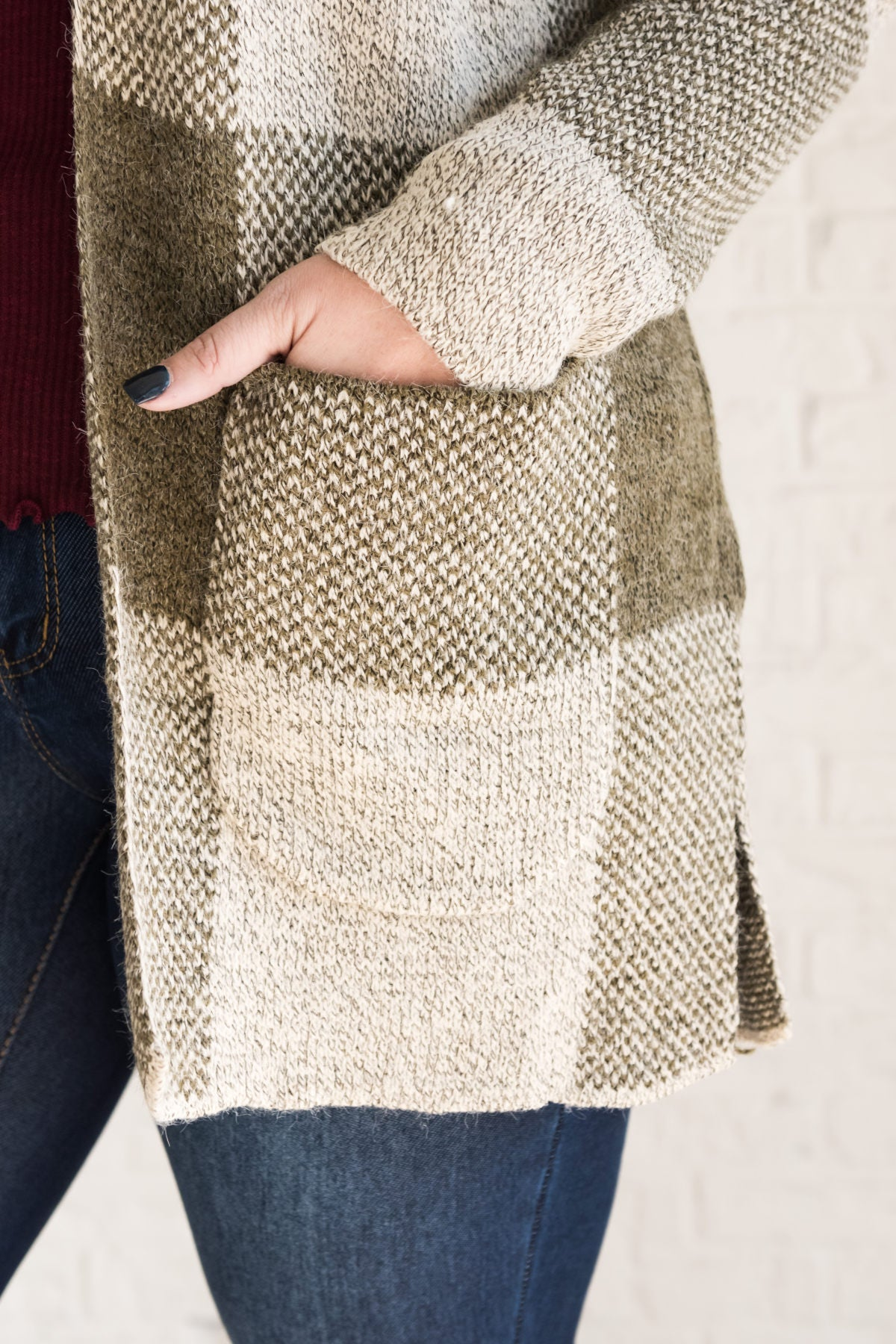 Olive Green Plus Size Sweaters and Cardigans with Pockets Cozy Warm Curvy  Boutique 6dabe4682