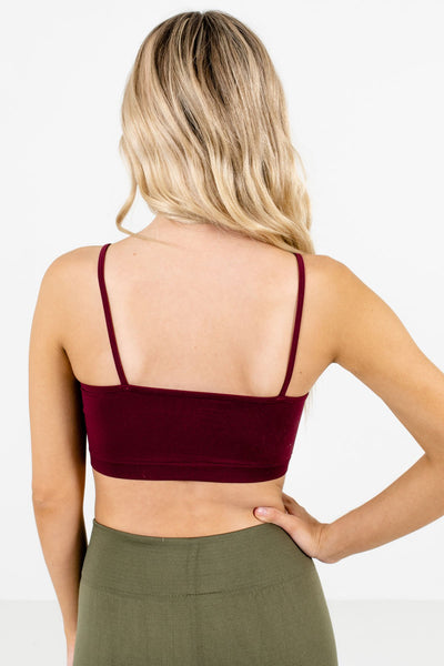 Women's Burgundy High-Quality Boutique Bralettes