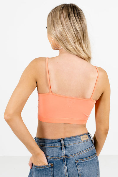 Women's Coral Pink High-Quality Boutique Bralettes