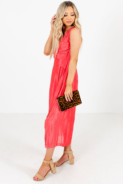 Women's Coral Pink Tank Style Boutique Dresses