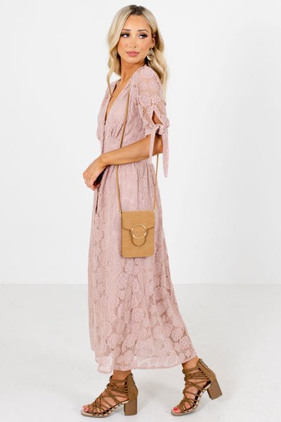 Women's Pink Special Occasion Boutique Midi Dress