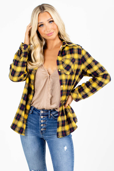 Yellow Cute and Comfortable Boutique Shirts for Women