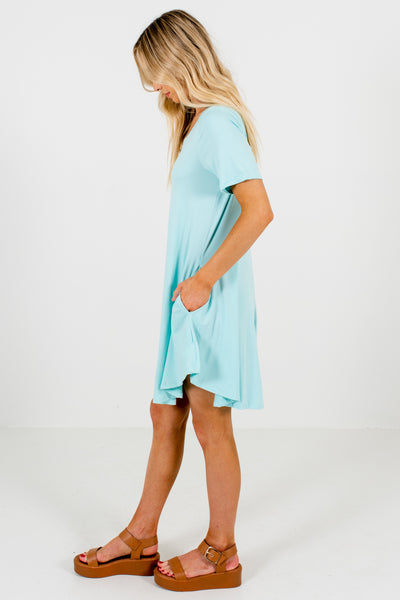 Aqua Blue Boutique Basic Soft Stretchy Mini Dresses