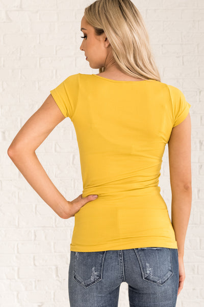 Mustard Yellow Women's Seamless Tee