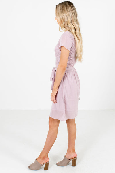 Lavender Purple Fully Lined Boutique Mini Dresses for Women
