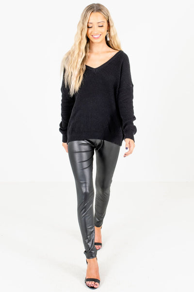 Black Long Sleeve Boutique Sweaters for Women
