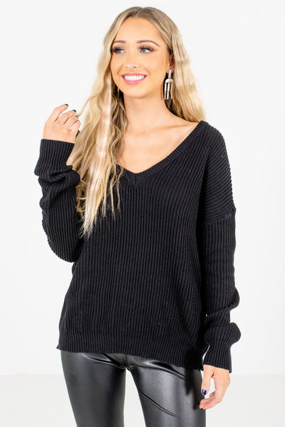 Women's Black Warm and Cozy Boutique Sweater