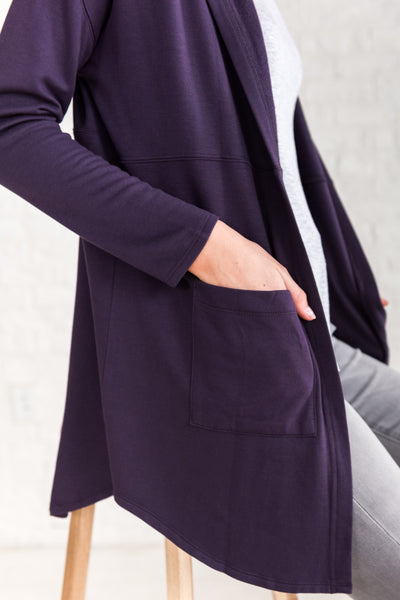 Puple Plum Long Cardigan