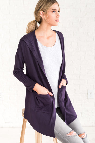 Plum Purple Cardigans for Women