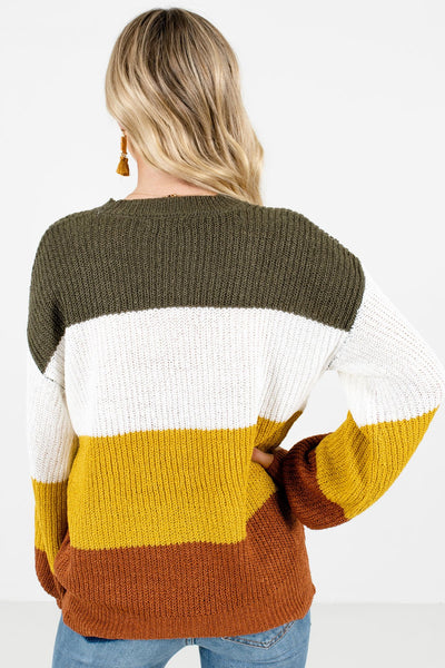 Women's Mustard Yellow Lightweight Knit Material Boutique Sweater