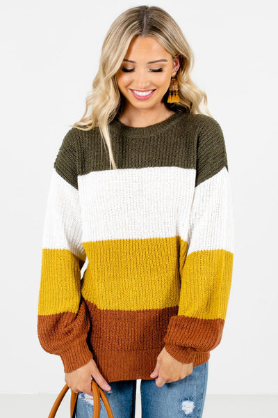Women's Mustard Yellow Warm and Cozy Boutique Clothing