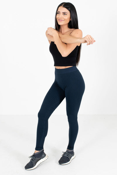 Navy Cute and Comfortable Boutique Active Leggings for Women