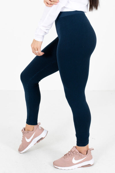 Navy High-Waisted Style Boutique Active Leggings for Women