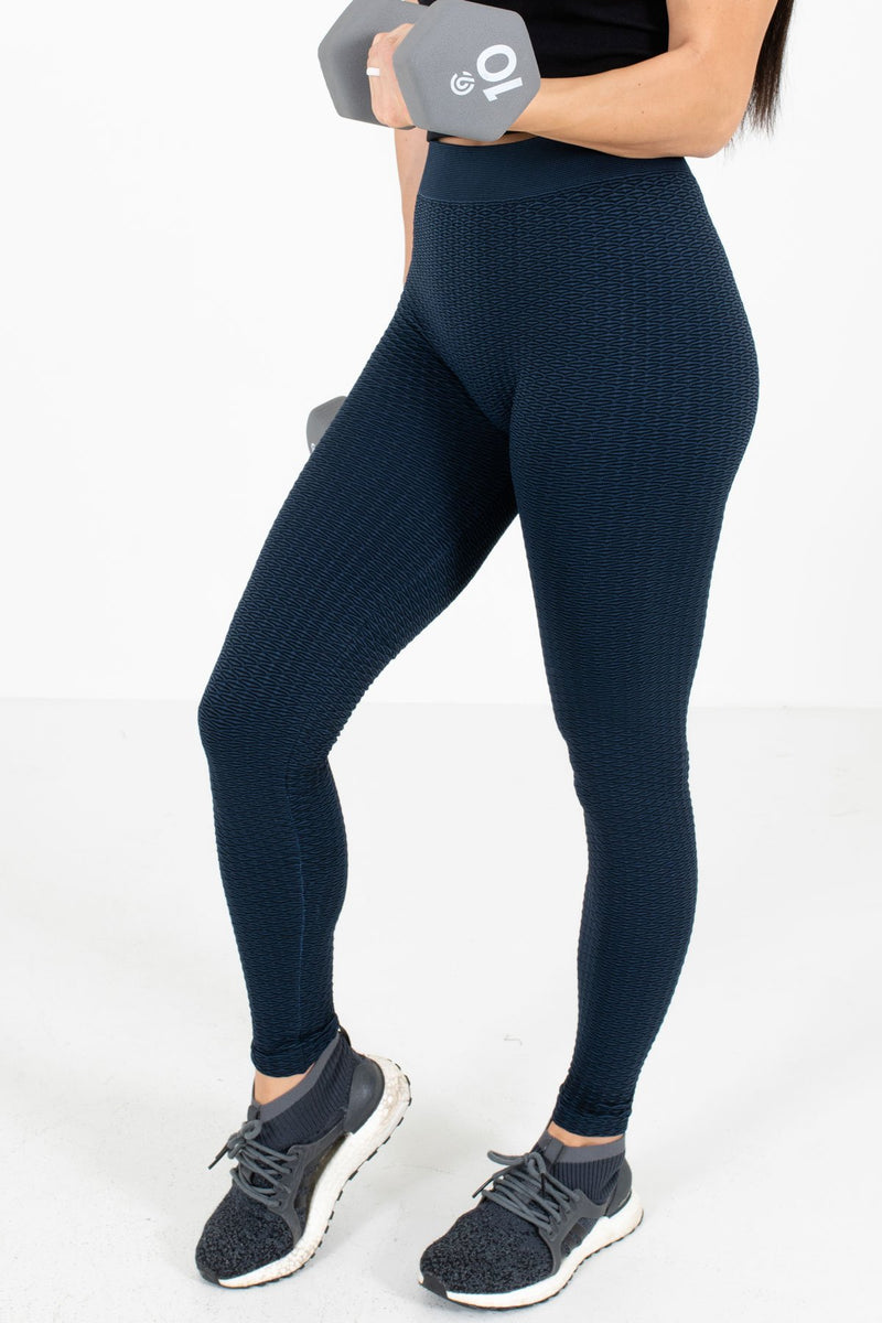 Navy Active Patterned Leggings
