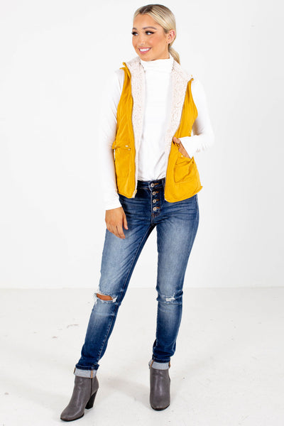 Women's Mustard Yellow Fall and Winter Boutique Clothing