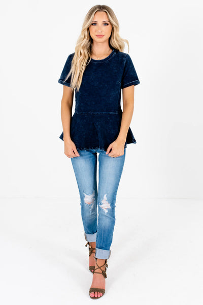 Women's Dark Blue Fall and Winter Boutique Clothing