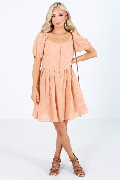 Orange Fully Lined Boutique Mini Dresses for Women