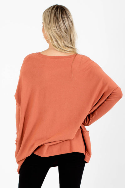Women's Pink Boutique Sweater with Pockets