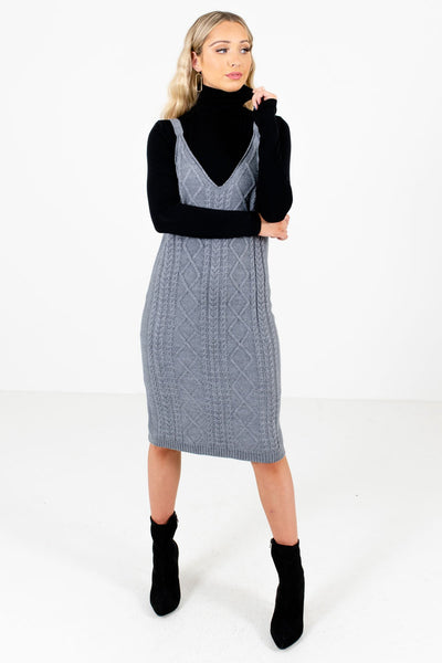 Women's Gray Fall and Winter Boutique Clothing