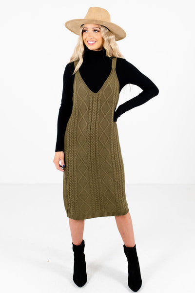 Olive Green Cute and Comfortable Boutique Dresses for Women