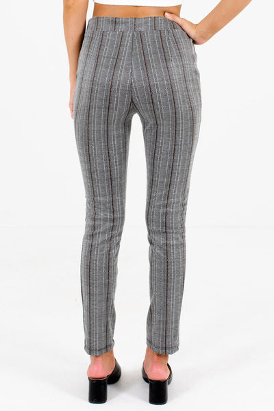 Women's Gray Elastic Waistband Boutique Pants