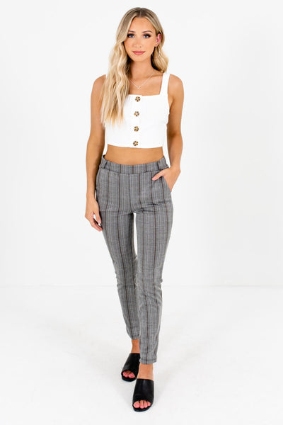 Women's Gray High-Quality Stretchy Boutique Pants