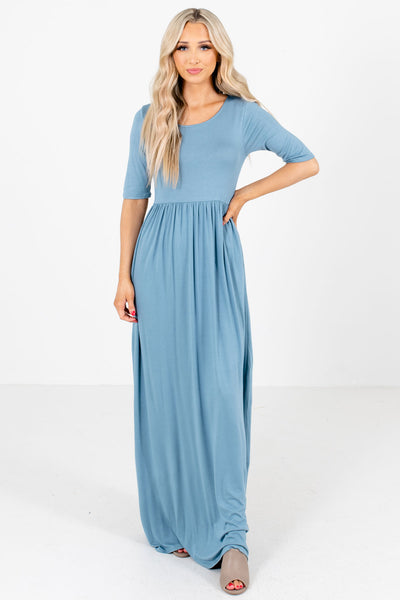Blue Cute and Comfortable Boutique Maxi Dresses for Women