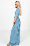 Blue Boutique Maxi Dresses with Pockets for Women