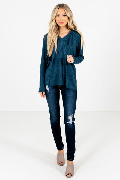 Women's Blue Fall and Winter Boutique Clothing