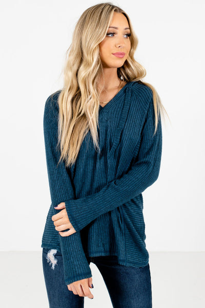 Blue Cute and Comfortable Boutique Hoodies for Women