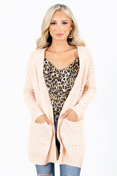 Peach Cute and Comfortable Boutique Cardigans for Women