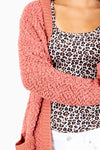 Women's Pink Boutique Cardigan with Pockets