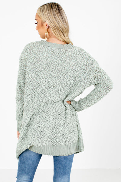 Women's Sage Green Cute and Comfortable Boutique Cardigan