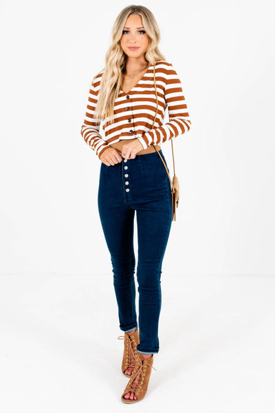 Women's Dark Wash Blue True-to-Size Fit Boutique Jeans