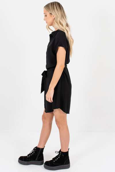 Black Button Up Shirt Mini Dresses Affordable Online Boutique